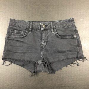 Topshop Moto Daisy Black Jeans Shorts Size 2